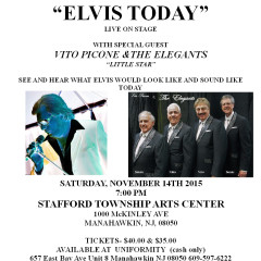 Get Your Tickets to See Elvis & Vito Picone & The Elegants in Manahawkin at the STAC